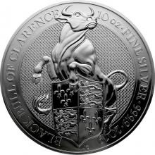 Stříbrná investiční mince The Queen's Beasts The Black Bull 10 Oz 2019