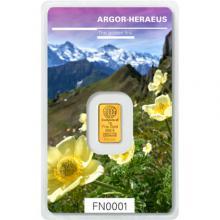 1g Argor Heraeus Following Nature III. - Jaro 2019 investiční zlatý slitek