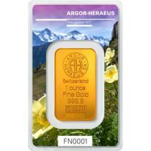 31,1g Argor Heraeus Following Nature III. - Jaro 2019 investiční zlatý slitek