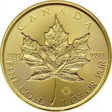 Zlatá investiční mince Maple Leaf 1 Oz - Incuse 2019