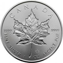 Stříbrná investiční mince Maple Leaf 1 Oz - Incuse 2019