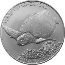 Stříbrná investiční mince Kareta obecná Tokelau 1 Oz 2019