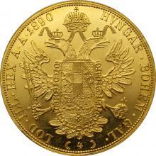 Zlatá mince 4-Dukát Františka Josefa I. 1890