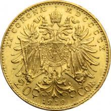 Zlatá mince Dvacetikoruna Františka Josefa I. Rakouská ražba 1910
