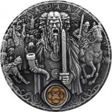 Stříbrná mince Slovanští bohové - Svetovid 2 Oz 2019 Antique Standard