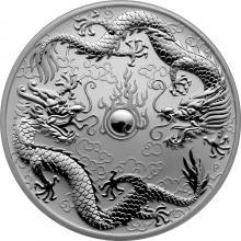 Stříbrná investiční mince Drak a Drak 1 Oz 2019