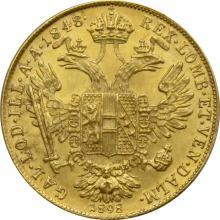 Zlatá mince Dukát 50. výročí vlády Františka Josefa I. Rakouská ražba 1898 A Linkskopf