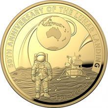 Zlatá minca Pristátie na mesiaci - 50. výročie 2019 Proof
