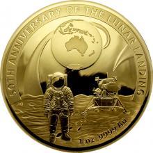 Zlatá mince Přistání na Měsíci - 50. výročí 2019 Proof