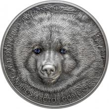 Stříbrná mince Gobijský medvěd 1 Oz Wildlife Protection 2019 Antique Standard