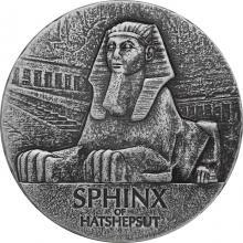 Stříbrná investiční mince Sfinga Hatšepsut 5 Oz 2019