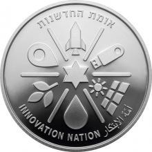 Strieborná minca Národ inovácií - 71. výročie Dňa nezávislosti Štátu Izrael 2019 Proof