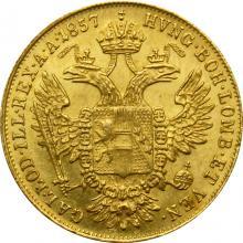 Zlatá mince Dukát Františka Josefa I. 1857 B