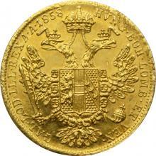Zlatá mince Dukát Františka Josefa I. 1858 B