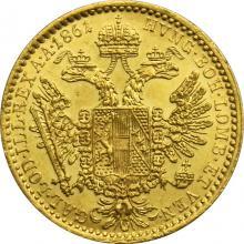 Zlatá mince Dukát Františka Josefa I. 1861 B