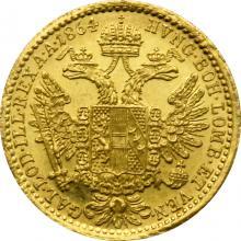 Zlatá mince Dukát Františka Josefa I. 1864 B