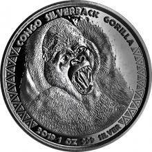 Strieborná investičná minca Kongo Gorila 1 Oz 2019