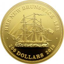 Zlatá minca HMS New Brunswick 1843 1 Oz 2019 Proof