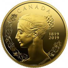 Zlatá minca 200. výročie narodenia kráľovnej Viktórie 2019 Proof