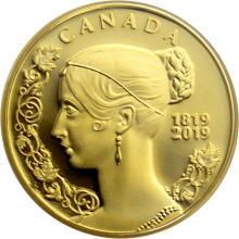 Zlatá mince 200. výročí narození královny Viktorie 2019 Proof
