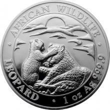 Stříbrná investiční mince Leopard Somálsko 1 Oz 2019