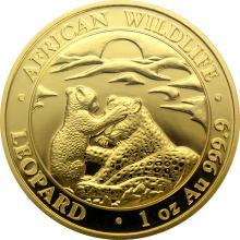 Zlatá investičná minca Leopard Somálsko 1 Oz 2019