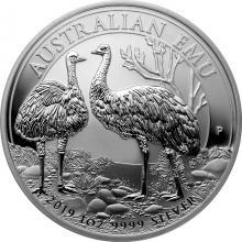 Stříbrná investiční mince Emu 1 Oz 2019