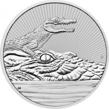 Stříbrná investiční mince Next Generation - Krokodýl 2 Oz 2019 Piedfort