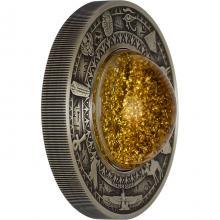 Stříbrná mince 2 Oz Zlatý poklad starověkého Egypta 2019 Antique Standard