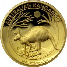 Zlatá mince Australian Kangaroo 1 Oz High Relief 2019 Proof