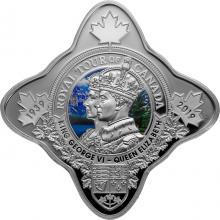 Strieborná minca Kráľovská cesta po Kanade 1 Oz Royal Star 2019 Proof