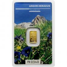 1g Argor Heraeus Following Nature III. - Léto 2019 investiční zlatý slitek