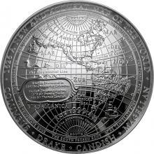 Stříbrná mince 1626 - Nová mapa světa 2019 Proof