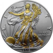 Stříbrná mince pozlacený American Eagle 1 Oz 2019 Standard