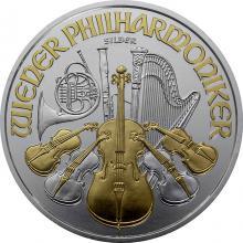Stříbrná mince pozlacený Wiener Philharmoniker 1 Oz 2019 Standard