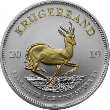 Stříbrná mince pozlacený Krugerrand 1 Oz 2019 Standard