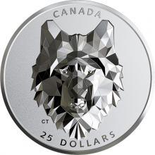 Stříbrná mince Zvířecí hlava - vlk 1 Oz Extra High Relief 2019 Proof