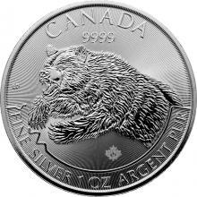 Stříbrná investiční mince Grizzly Predator 1 Oz 2019