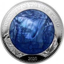 Stříbrná mince 5 Oz Objevení Nového světa - Leif Eriksson 2020 Perleť Proof