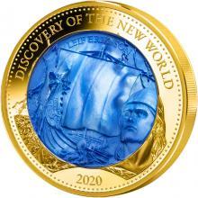 Zlatá mince 5 Oz Objevení Nového světa - Leif Erikson 2020 Perleť Proof