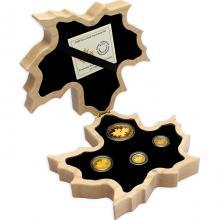 Maple Leaf Exkluzivní sada zlatých mincí s hologramem 2020 Proof .99999