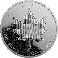 Stříbrná mince 2 Oz Pulzující Maple Leaf 2020 Proof