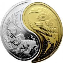 Jin - Jang Sada zlaté a stříbrné mince 2019 Proof