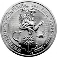 Stříbrná investiční mince The Queen´s Beasts The White Lion 2 Oz 2020