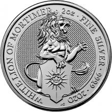 Stříbrná investiční mince The Queen's Beasts The White Lion 2 Oz 2020