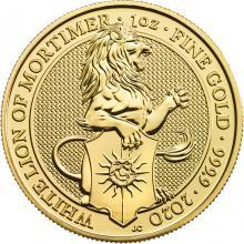 Zlatá investičná minca The Queen 's Beasts The White Lion 1 Oz 2020