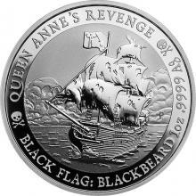 Strieborná investičná minca Black Flag - Queen Anne's Revenge 1 Oz 2019