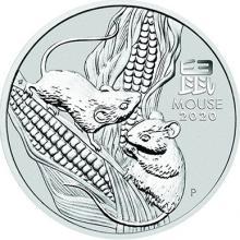 Strieborná investičná minca Year of the Mouse Rok Myši Lunárny 1/2 Oz 2020