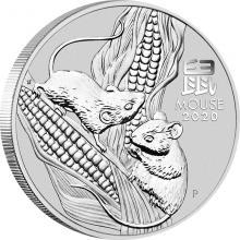 Stříbrná investiční mince Year of the Mouse Rok Myši Lunární 1 Oz 2020