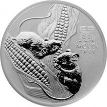 Strieborná investičná minca Year of the Mouse Rok Myši Lunárny 1 Oz 2020
